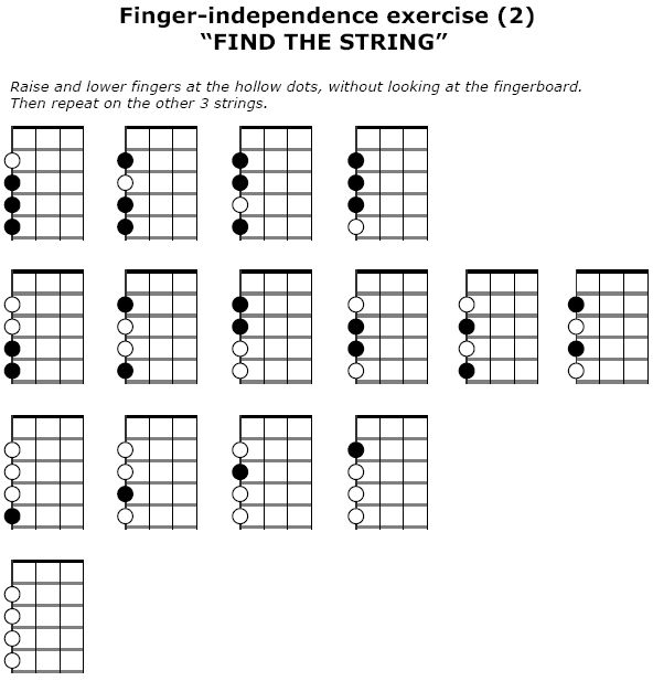 2016-05-26 Finger-independence exercise (2) - 'Find the string'